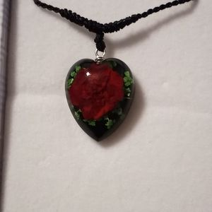 Real Rose Gothic Necklace